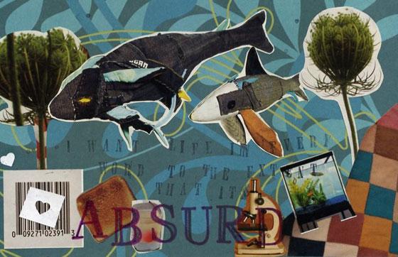 Postal Service inspired collage by Jennifer Grau 2007